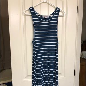 1X Extra Touch sleeveless stripped dress